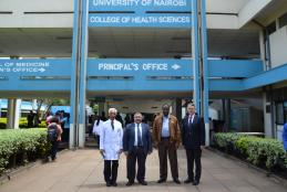 Principal UoN CHS with Prof Ashok Handa, Dr Toni Jefferies and Prof Pankaj Jani